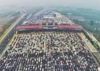 شاهد  بالصورة أكبر زحمة سير في العالم