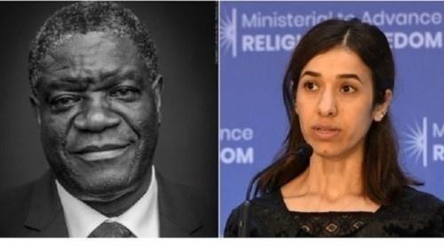 """ناشطة يزيدية وطبيب كونغولي يفوزان بجائزة """"نوبل للسلام"""""""