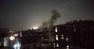 المواقع التي تم استهدافها من قبل طيران التحالف بصنعاء