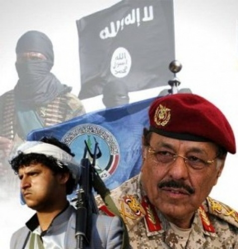 """كيف يستغل الأحمر والإخوان و#الحـوثي كذبة """"القاعدة"""" في الجنوب؟!.. ولماذا زُرعت؟!"""
