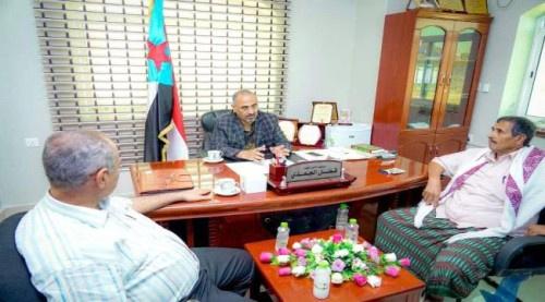 الرئيس الزبيدي يلتقي بنائب قائد مقاومة مريس في #العاصمة_عـدن