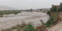 ارتفاع منسوب مياه السيول والامطار في سد باتيس بأبين