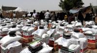 الهلال الأحمر الإماراتي يوزع كسوة العيد ومعونات غذائية في الساحل الغربي
