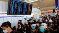 بسبب التظاهرات.. مطار هونغ كونغ يلغي جميع الرحلات