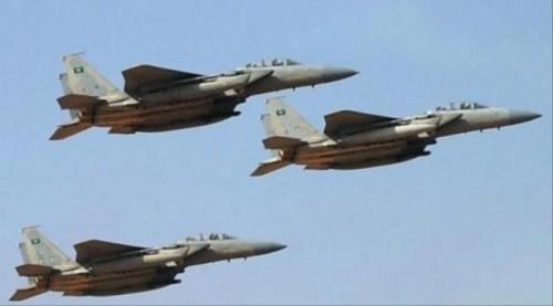 مقاتلات التحالف تشن غارات على #الحـوثيين ب#صعـدة