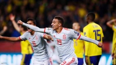 إسبانيا تتأهل لنهائيات أمم أوروبا بتعادلها مع السويد