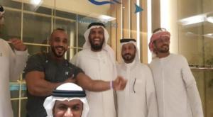 نائب الرئيس يلتقي البطل انس اليافعي بعد قرار توقيفه من قبل حكومة الشرعية