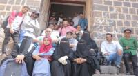 قسم الآثار بكلية الآداب عدن ينظم رحلة سياحية الى قلعة صيرة
