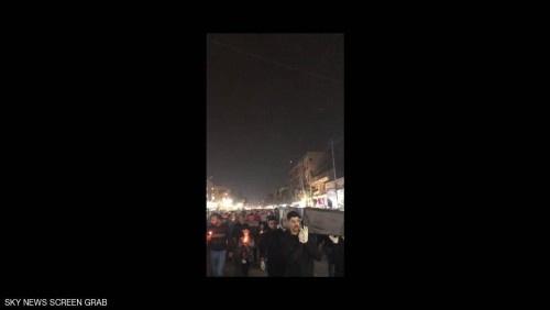 انطلاق أكبر تظاهرة ليلية ضد النفوذ الإيراني في العراق