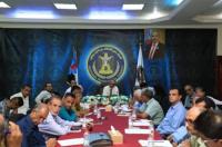 الجعدي يترأس اجتماعاً مشتركاً لرؤساء دوائر الأمانة العامة والهيئة التنفيذية لانتقالي العاصمة عدن