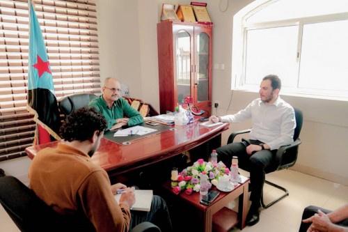 الجعدي يناقش مع مسؤول أممي تداعيات أحداث #شبوة