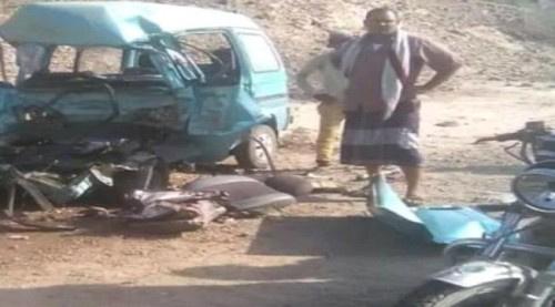 وفاة شخص وإصابة اخرين في حادث مروري بمسيمير لحج