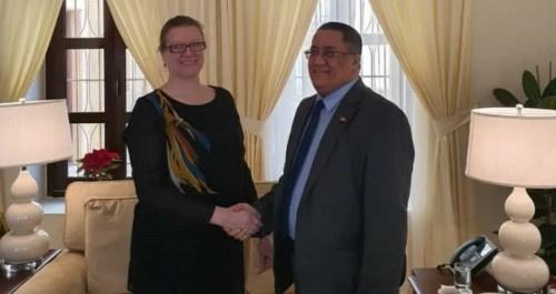 الخبجي يلتقي نائبة السفير الإمريكي لدى اليمن
