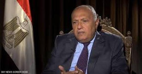 شكري: إعلان القاهرة يحقق الحل السياسي في ليبيا