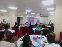 مؤسسة (من حقي) واللجنة النسوية للتصالح والسلام تواصل دورة اعداد كادر مؤهل لقيادة الدولة المدنية لليوم الثاني