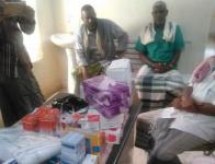 انتقالي ساه يقدم مستلزمات طبية للمركز الصحي برسب والوحدة الصحية بالحسك
