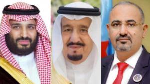 الرئيس الزُبيدي يهنئ خادم الحرمين الشريفين الملك سلمان وولي عهده باليوم الوطني السعودي الـ90