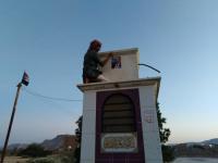 تواصل رفع أعلام الجنوب وصور الرئيس الزُبيدي في مديرية القطن بمناسبة عيد الاستقلال(صور)
