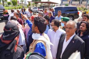 الكاف والسعدي والشيبة يتقدمون مستقبلي جثمان السلطان الثائر أحمد بن عبدالله الفضلي