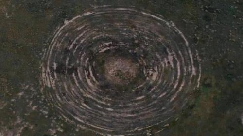 درون يصوّر آثار هبوط طبق طائر في جمهورية بورياتيا الروسية