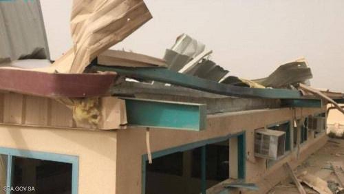 """سقوط """"مفخخة حوثية من دون طيار"""" على مدرسة سعودية"""