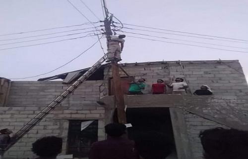 عدن.. وفاة أحد عمال الطوارئ بصعق كهربائي بمنطقة العريش