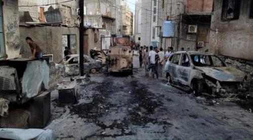 قوات الأمن تواصل حملة تطهير مدينة كريتر من بقايا العصابات الإرهابية